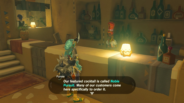 PIKUBYTES // Video Game Cocktails Noble Pursuit Legend of Zelda Breath of the Wild
